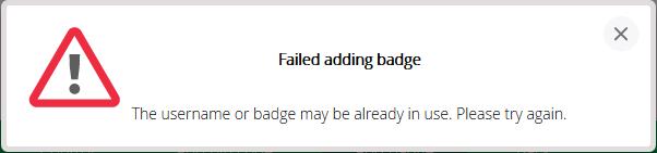 FailedAddingbage