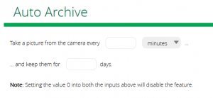 Auto Archive med kameror.