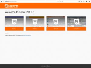 Nu kommer jag till Openhab2 på min Raspberry pi 2 !