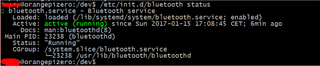 Bluetooth med orange Pi Zero
