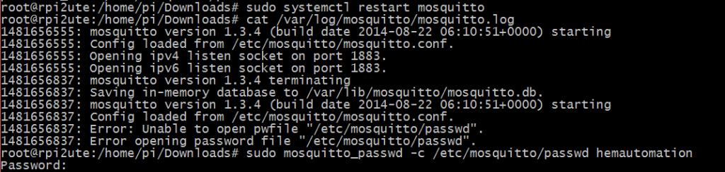 Konfigurera MQTT password