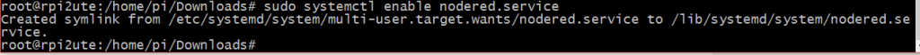 sudo systemctl enable nodered.service