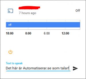 Home Assistant med Google ChromeCast