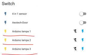 tre arduino knappar via MQTT på Node-Red