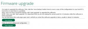 Jag väljer alltid att spara ut en backup av min Veras konfiguration utifall nått mer felar.