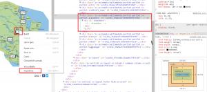Genom att identifera elementet på Hemsidan kan jag sedan lägga till ett sökfilter i Node-Red