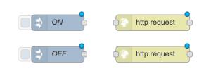 """Jag valde nu att dra in två st http request block för att slippa någon """"programmering"""""""