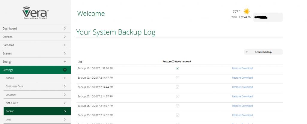 Att återställa backupen gick automatiskt, behövde inte ens gå till kopian jag hade sparat lokalt