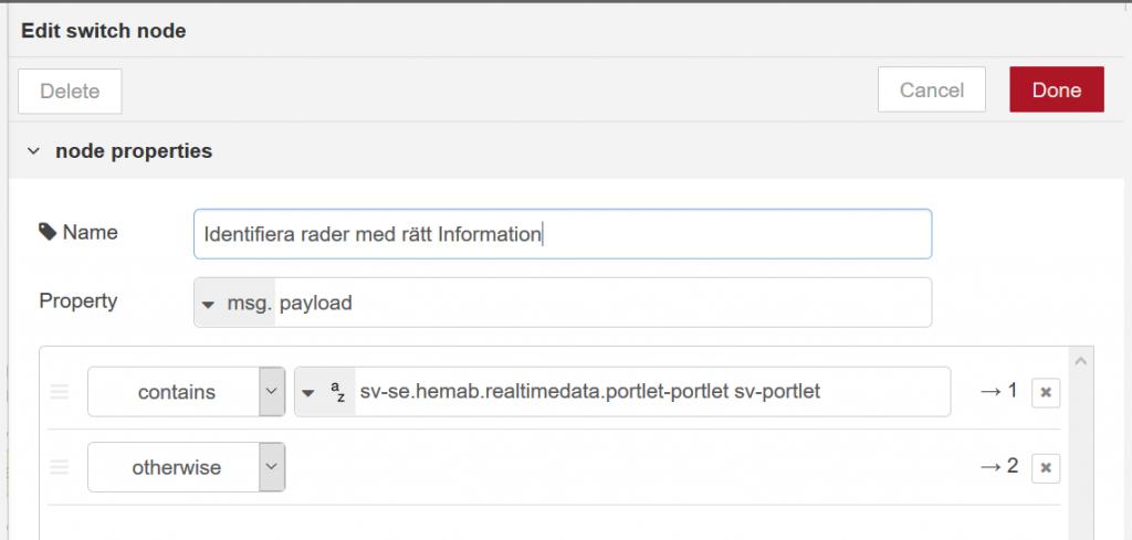 Genom att söka efter textsträngen som jag tidigare identifierade kan jag sortera ut korrekt data