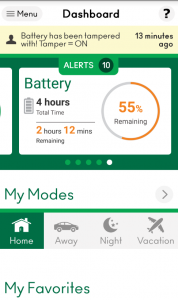 Med batteriet externt så laddar VeraSecure igen