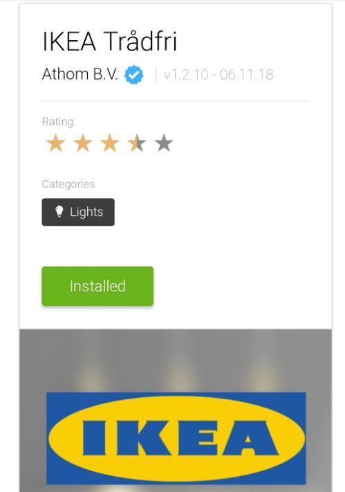 Med hjälp av Homeys egna IKEA app för trådfri går det att inkludera Zigbee enheter direkt.