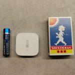 Aqara sensor med temperatur, luftfuktighet & lufttryck. Kommunikation via Zigbee