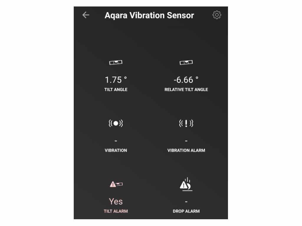 Aqaras vibrationssensor erbjuder även lutning, fall.