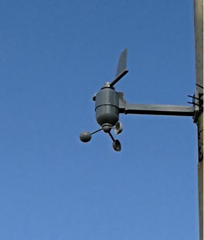 Monterad vindsensor från Oregon
