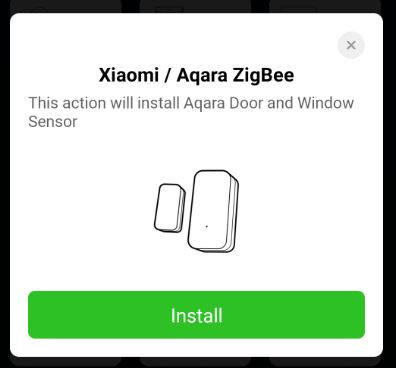 Välj att inkludera en Xiaomi aqara dörrsensor