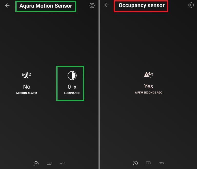 Skillnaden mellan Xiaomi Mi och Xiaomi Aqara Motion sensor